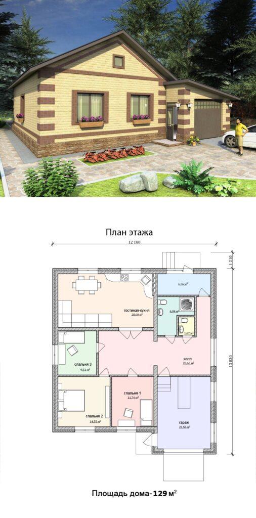 Изображение проекта частного дома