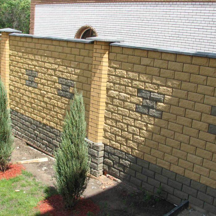 Фото забор облицовка плиткой Литос
