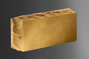 Фото кирпич Литос стандартный скала тычковой полнотелый, цвет слоновая кость
