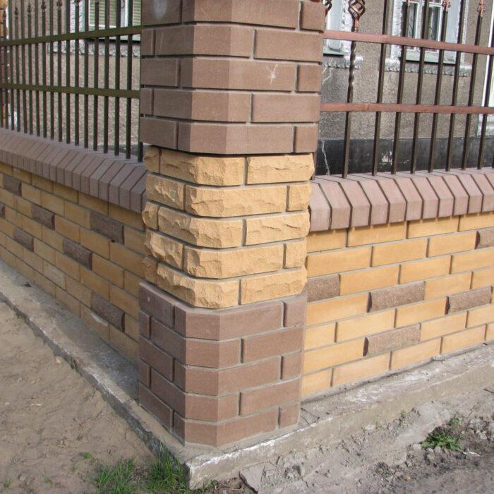 Фотография кирпич Литос скала и забор