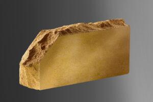 Фотография кирпич Литос стандартный скала укловой полнотелый, цвет слоновая кость