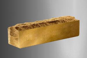 Фотография Кирпич Литос узкий скала тычковой полнотелый, цвет слоновая кость