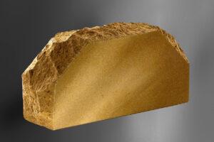 Фотография кирпич Литос стандартный скала 2-х укловой полнотелый, цвет слоновая кость